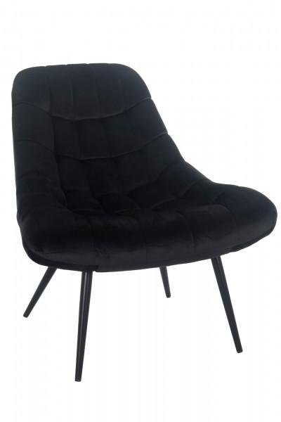 Sessel XXL Samt schwarz Metall schwarz