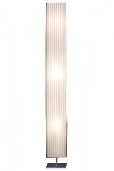 Stehlampe 160 cm eckig weiß, chrom