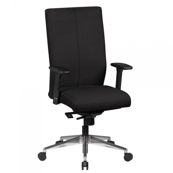 AMSTYLE Bürostuhl ADRIAN Stoffbezug Schwarz Schreibtischstuhl Chefsessel