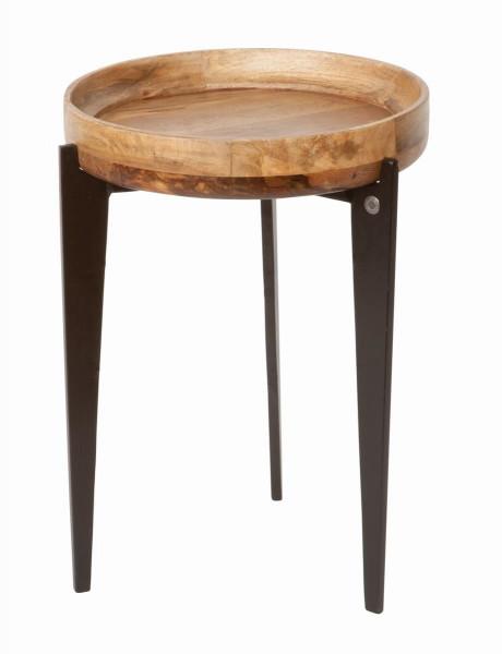 Tom Tailor Beistelltisch Tischplatte natur, Beine schwarz