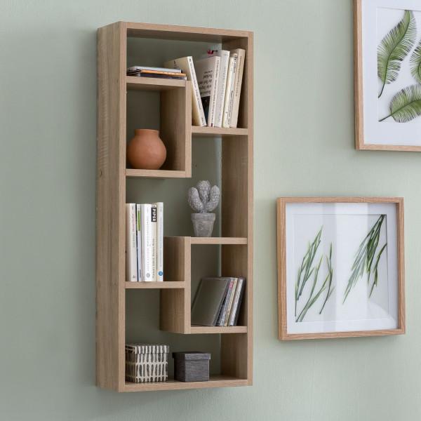 WOHNLING Wandregal ROSALIE Sonoma Holz Design Hängeregal modern