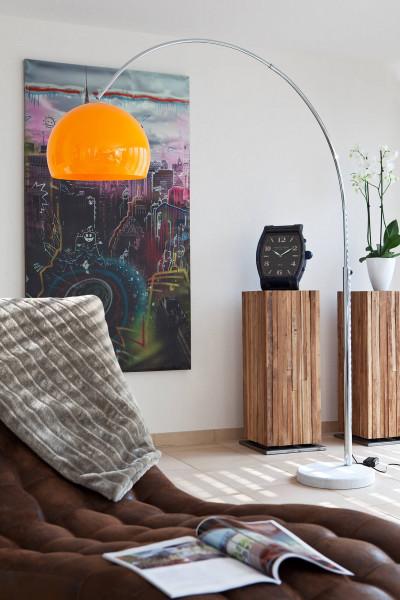 Bogenlampe 208 cm orange