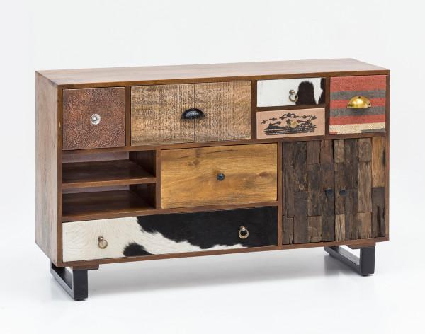 WOHNLING Sideboard PATNA Massiv Holz Mango Natur Anrichte