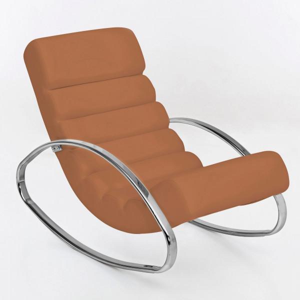 WOHNLING Relaxliege Sessel Fernsehsessel Farbe braun Relaxsessel Design Schaukelstuhl