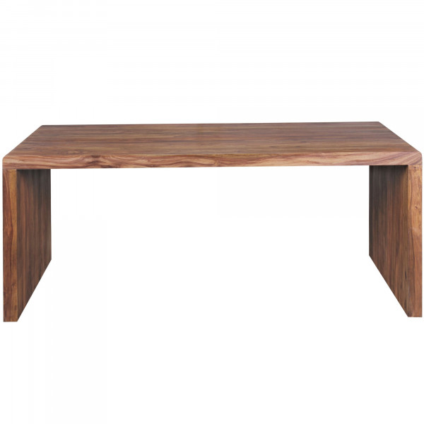 WOHNLING Schreibtisch BOHA Massiv-Holz Sheesham Computertisch 200 cm breit