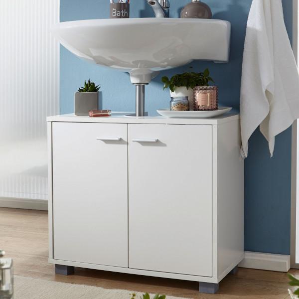 WOHNLING Design Waschbeckenunterschrank Weiß
