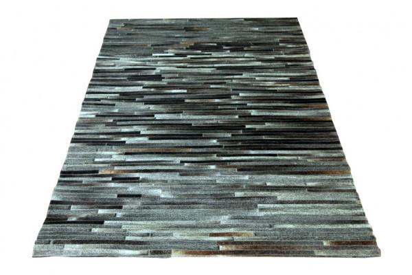 Teppich Dunkelgrau Kuhfell 170x240 cm