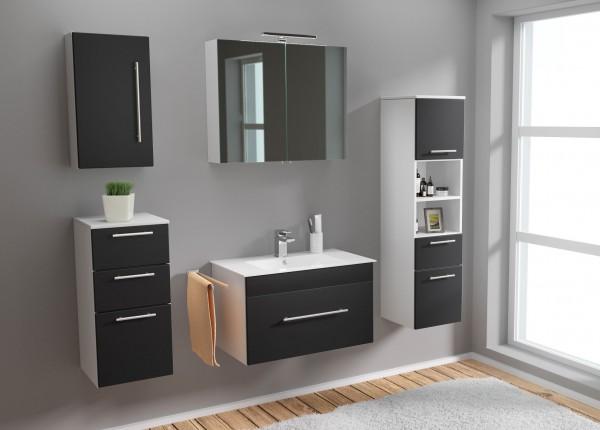 Posseik Badezimmer komplett Set 5 teilig 75 cm Waschtisch