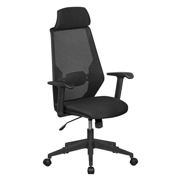 AMSTYLE NetStar | Bürostuhl Stoff-Sitzfläche in schwarz | Schreibtischstuhl mit Rückenlehne
