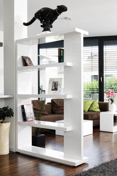 SalesFever Raumteiler 128x30x180 cm weiß