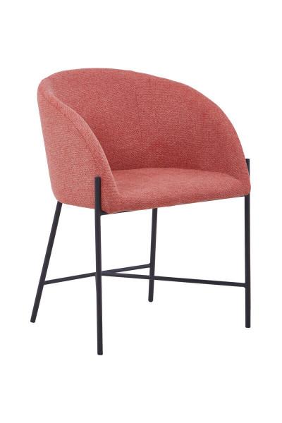 Stuhl mit Armlehnen Strukturstoff dusty pink
