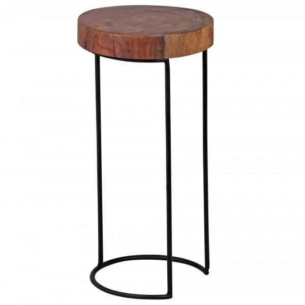 WOHNLING Beistelltisch AKOLA Massiv-Holz Sheesham Wohnzimmer-Tisch