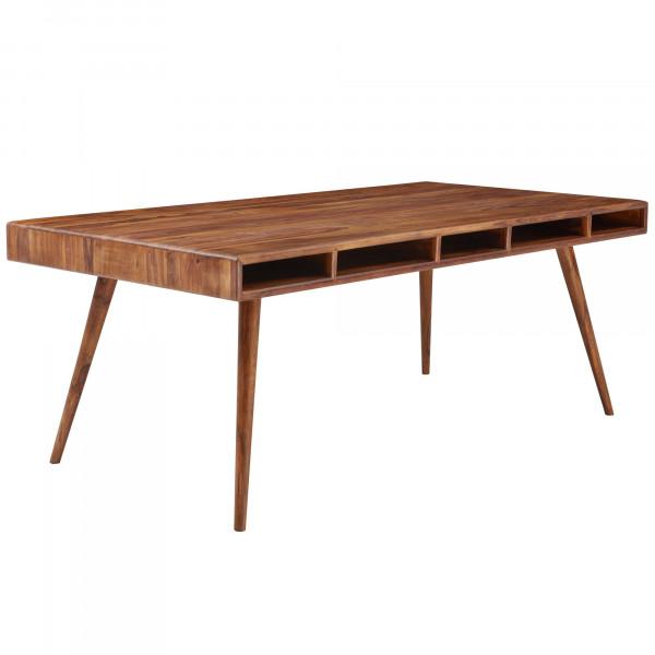 Wohnling Esstisch INDORE Sheesham 200x77x100 cm Massivholz Tisch | Designer Küchentisch Holz