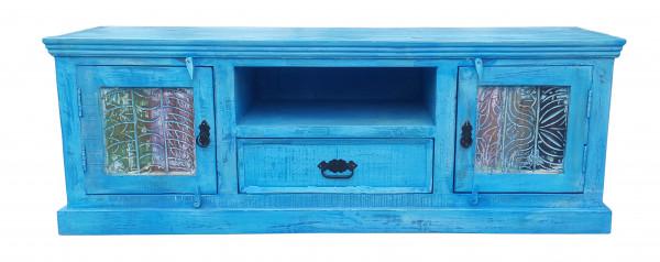 Blue Lowboard 140x40x50 cm