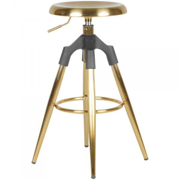 WOHNLING Barhocker Gold Metall 72-80 cm