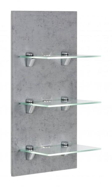 Posseik LED-Panel VIVA mit 3 Glasablagen beton