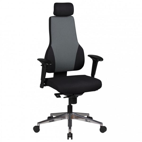 AMSTYLE Bürostuhl Qentin schwarz/grau Schreibtischstuhl Stoffbezug Chefsessel