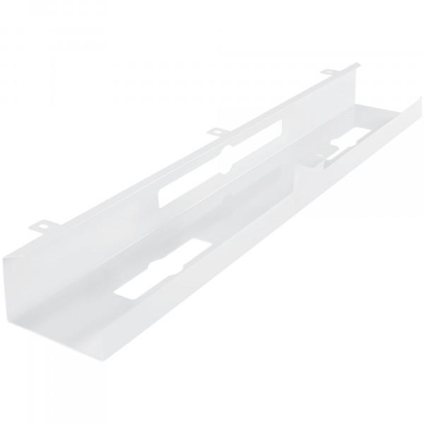 AMSTYLE® Kabelkanal Schreibtisch 80x7x13 cm breit Untertisch Kabelführung weiß