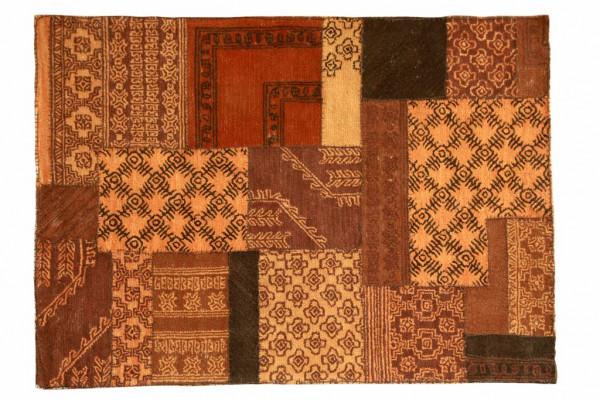 Teppich Braun 200x300x0 cm im Vintagelook