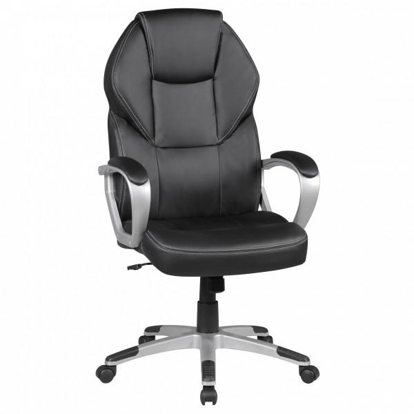 Amstyle Bürostuhl DETROIT Schwarz Kunstleder Schreibtischstuhl X-XL Chefsessel 120KG