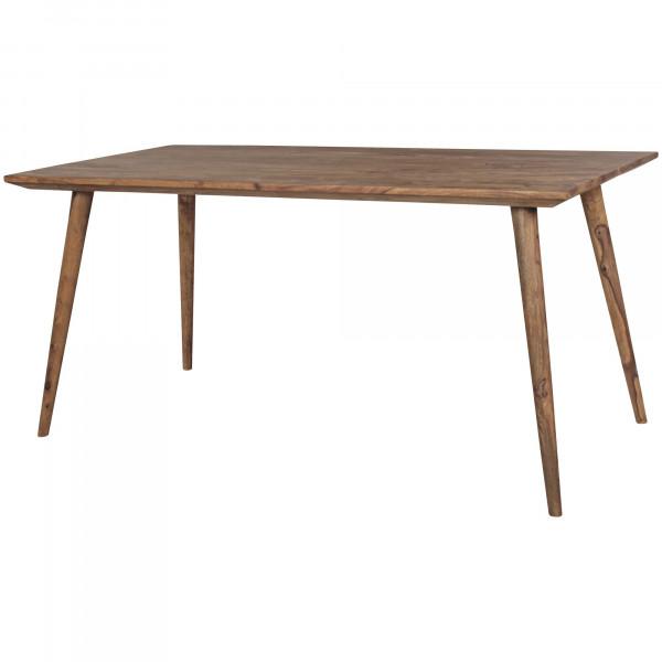 WOHNLING Esszimmertisch REPA 160 x 80 x 76 cm Sheesham rustikal Massiv-Holz