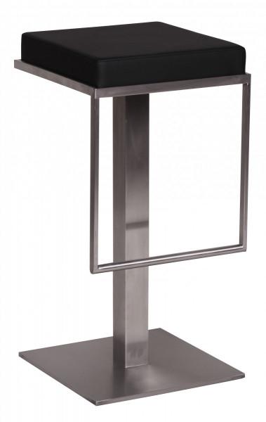 WOHNLING Barhocker Schwarz Edelstahl 36x76x39 cm Design Barstuhl