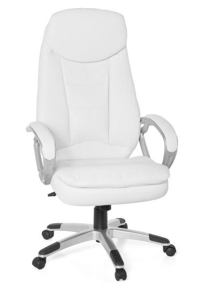 AMSTYLE Design Bürostuhl COSENZA Weiß 120kg Schreibtischstuhl Kunstleder Modern