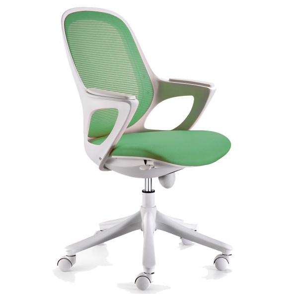 Amstyle Bürostuhl MAGLO Grün Stoff Schreibtischstuhl Drehstuhl Bürosessel mit Armlehnen