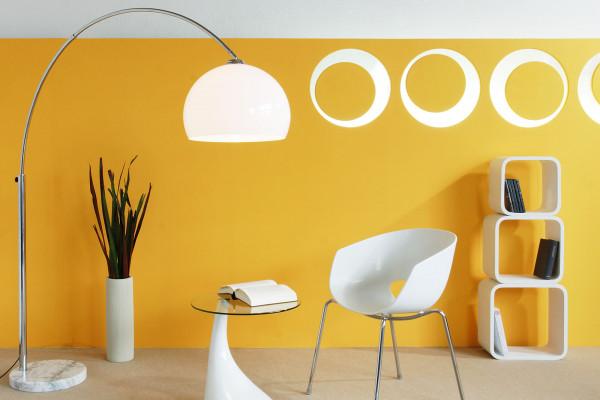 SalesFever Bogenlampe 208 cm weiß