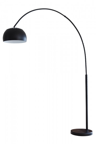 Bogenlampe 195 cm schwarz