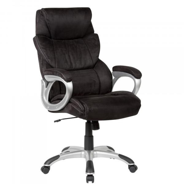 AMSTYLE Bürostuhl Bezug Stoff Schwarz Schreibtischstuhl bis 120 kg