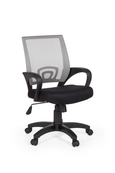 Amstyle Bürostuhl RIVOLI Grau Schreibtischstuhl mit Armlehne Bürodrehstuhl Jugendstuhl