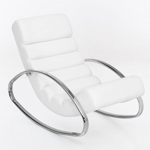 WOHNLING Relaxliege Sessel Fernsehsessel Farbe weiß Relaxsessel Design Schaukelstuhl
