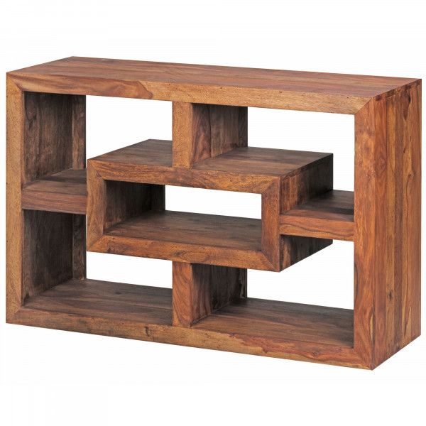 WOHNLING Bücherregal MUMBAI Massiv-Holz Sheesham 105 x 70 cm