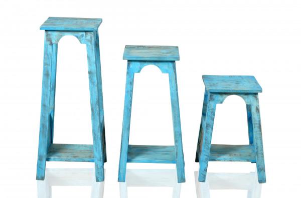 Blue Blumenhocker 28x28x50 cm