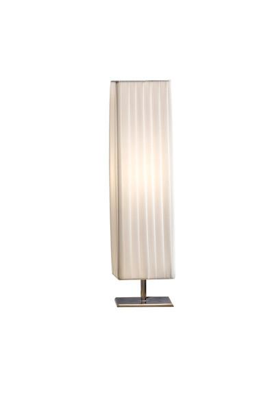 SalesFever Tischlampe 60 cm eckig weiß chrom