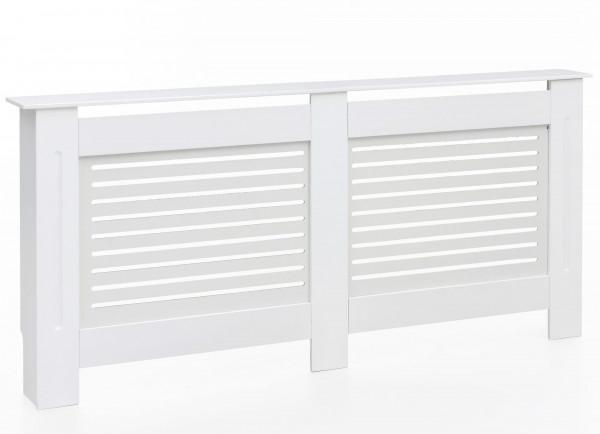 WOHNLING Design Heizkörperverkleidung Ator 172 x 82 x 19 cm Weiß Matt Lackiert