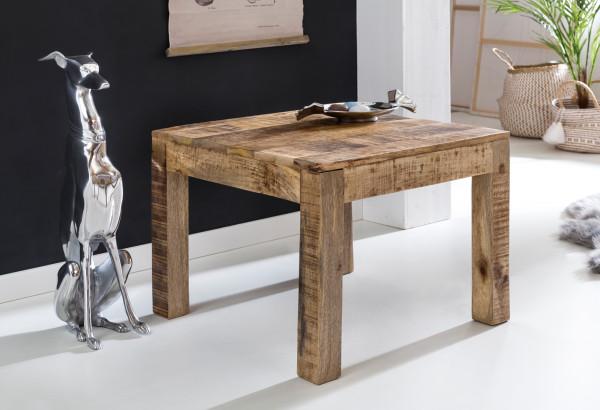 WOHNLING Couchtisch RUSTICA Massiv-Holz Mango Natur   Landhaus-Stil Wohnzimmertisch