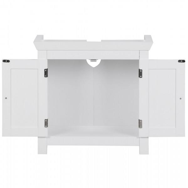 WOHNLING Design Waschbeckenunterschrank weiß Landhaus Stil