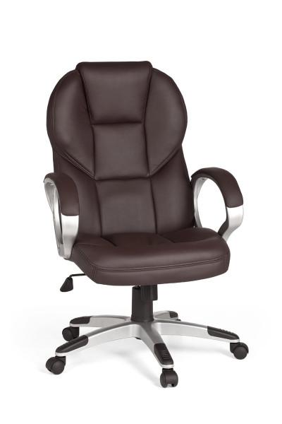 AMSTYLE Bürostuhl Matera Bezug Kunstleder Braun Schreibtischstuhl Design Chefsessel Drehstuhl