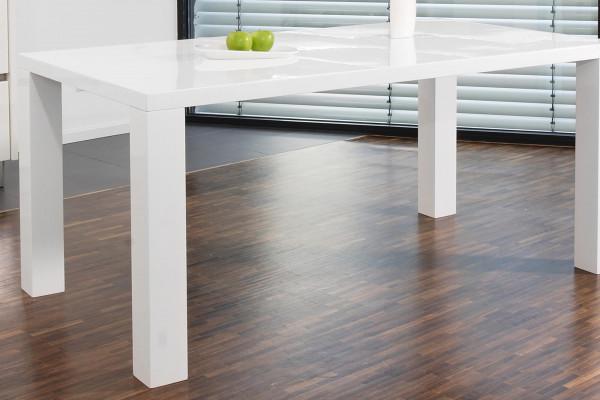 Esstisch 140x90 cm Weiß Hochglanz Lack