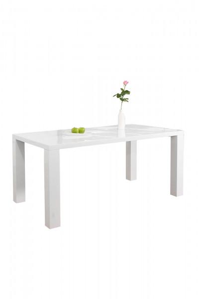 Esstisch 160x90x76 cm weiß