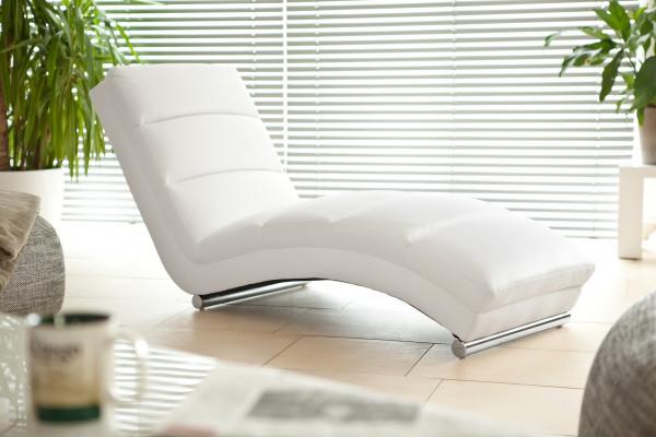 SalesFever Design Relaxliege weiß Kunstleder