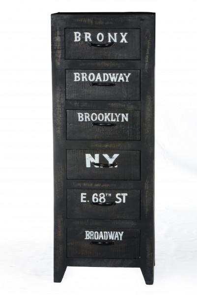 Bronx Kommode 45x35x120 cm