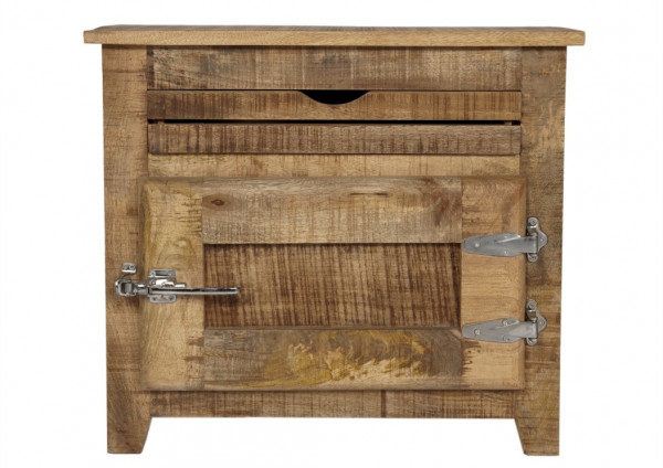 SIT-Möbel Frigo Kommode aus Recycling Massivholz, Mangoholz & Metall 70x30x60 cm