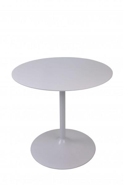 Bistrotisch rund weiß Ø80 cm
