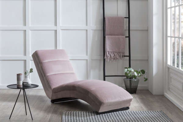 Chaiselongue rose Samt