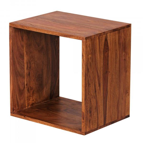 WOHNLING Standregal Massivholz MUMBAI Sheesham 43,5 cm Cube