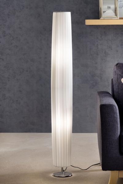 Stehlampe 120 cm rund weiß, chrom