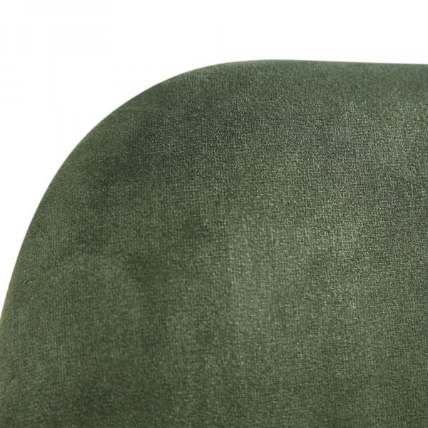 WOHNLING Esszimmerstuhl 2er Set Samt Grün Küchenstuhl mit goldenen Beinen